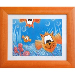 """Picture catfish """"In every sense"""" # child baby room mural deco (print)"""