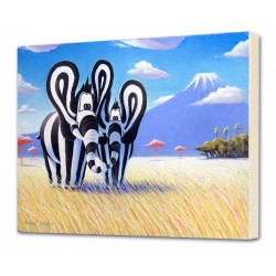 """Canvas 3D """"Titou and her mom"""" - wall art canvas child and baby"""