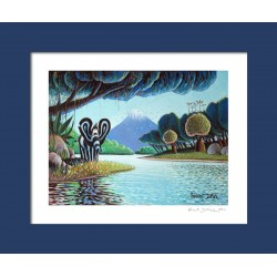 """Picture """"Contemplative"""" (print) - [painting, bedroom, child, baby]"""