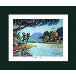"""Poster """"Contemplative"""" - [painting, bedroom, child, baby]"""