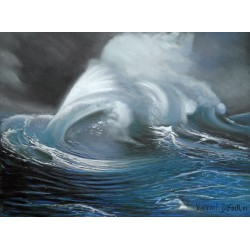 "Tableau original ""LA VAGUE"" (pastel sec) de l'artiste peintre Vincent Dufour"