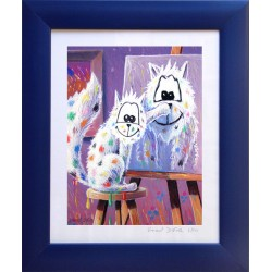 """Print (watercolor paper) + Cache (15mm) """"the self-portrait"""" - Wall decoration for children and babies."""