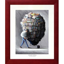 """Poster """"Physical culture"""" Frame 4 cm # mural deco book decoration"""